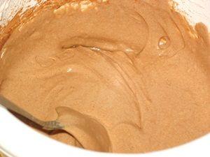 часть теста для торта Зебра с какао
