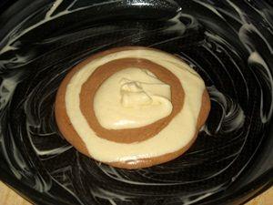 формирование коржа для торта Зебра