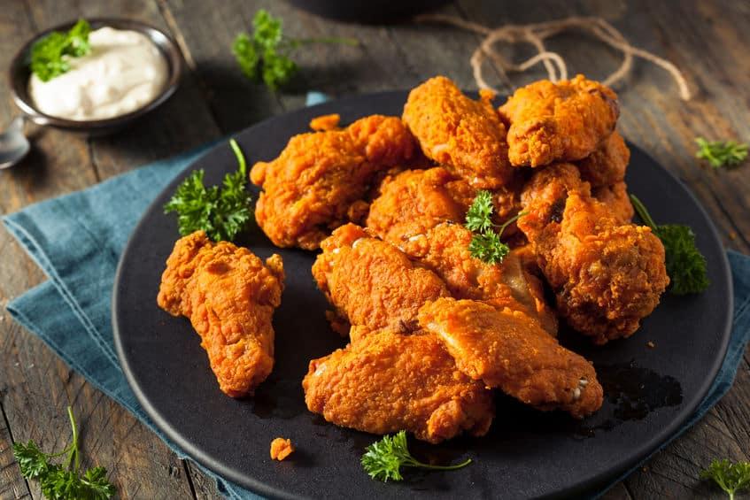 Куриные крылышки жареные во фритюре