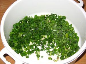 рубленая зелень для салата