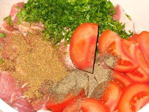 ингредиенты для шашлыка из свиной шеи