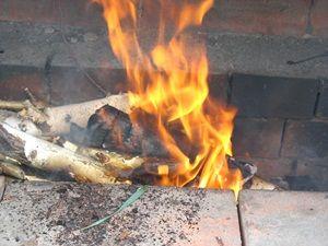 огонь для коптильни