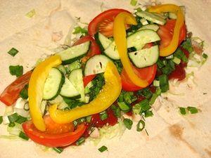овощи в шаурме