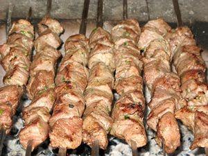 жарка шашлыка из говядины