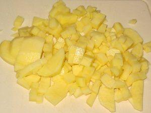 картошка для щи