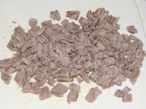 нарезанное отварное мясо