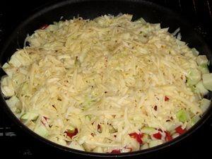 запекание кабачка с сыром