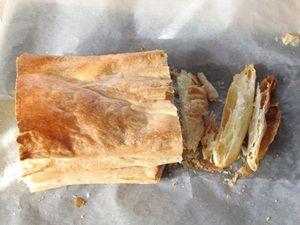 сформировать слоёные коржи для торта