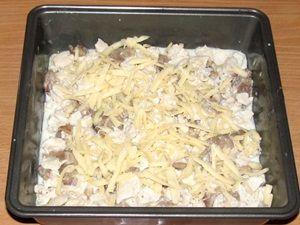 сыр на курице с гибами