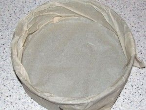 форма для выпечки в пергамента