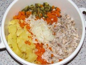 ингредиенты для салата с молоками