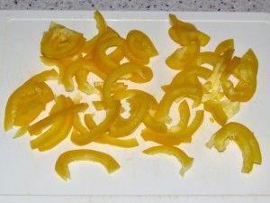 кусочки перца для салата