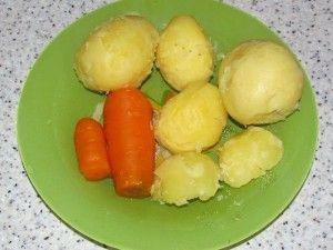 отварные овощи для салата с молоками