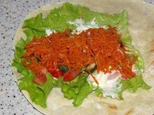 корейская морковка на лепёшке