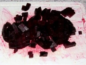 кубики свёклы