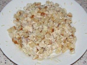 ингредиенты салата заправленные майонезом