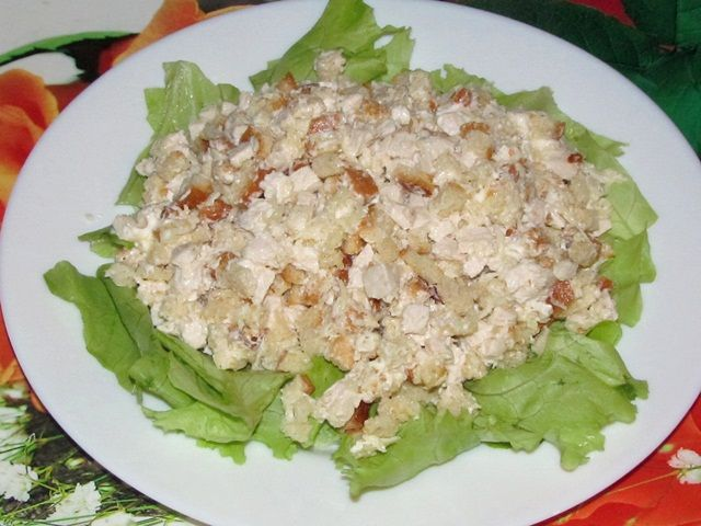 салат зимний рецепт с фото с курицей
