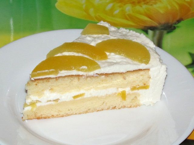 творожный торт с фруктами