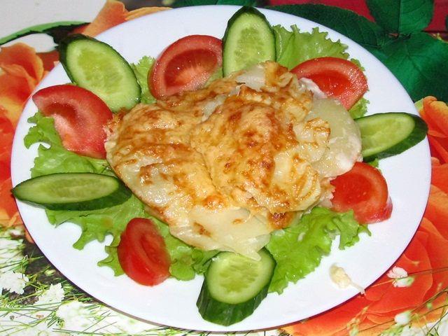 Картошка запечённая в сметане