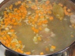 варка супа с пшеном