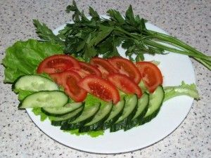 нарезка из овощей для рулета