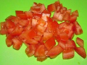 резанные помидоры