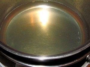 растворение желатина на водяной бане