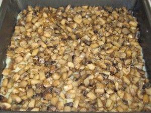 слой жареных грибов