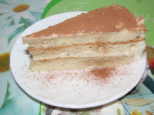 бисквитный торт со сливочным желе