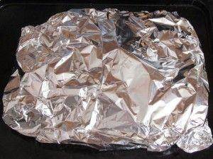 завернуть грудки с картошкой в фольгу
