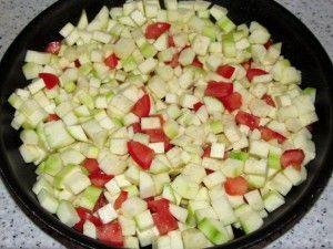 слой кабачков с помидорами