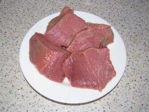 крупные куски мяса