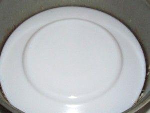 рис накрыт тарелкой