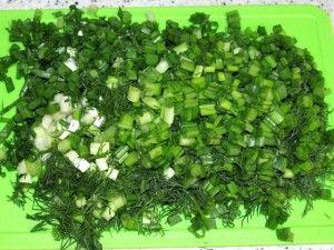 рубленая зелень