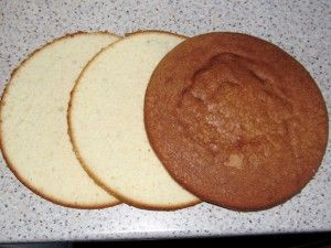 слои бисквитного коржа