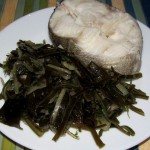 Салат из свежей морской капусты