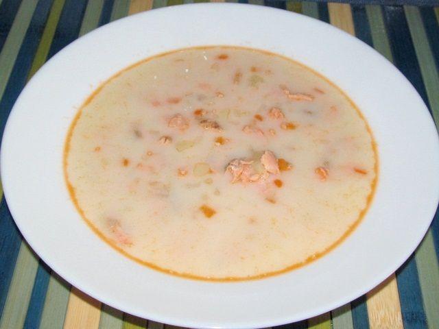 суп из лосося с сырком