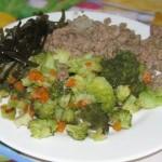 Тушёная брокколи