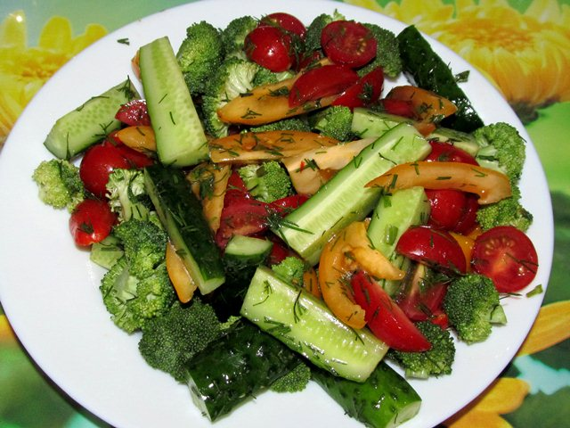 брокколи салат рецепты foto