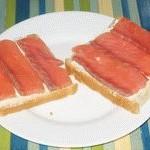 Бутерброд с сёмгой