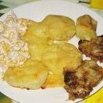 Картошка, запеченная с мясом