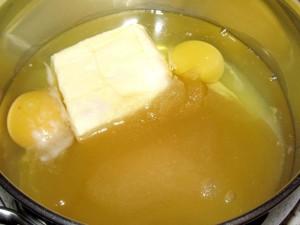 мёд масло яйца сахар