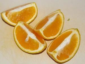 нарезка апельсина дольками