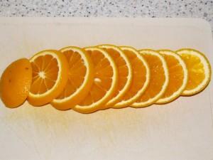 нарезка апельсина кольцами