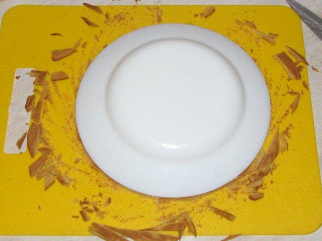 обрезка коржей торта Рыжик
