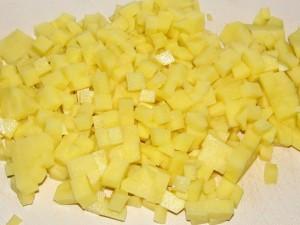 резанная картошка