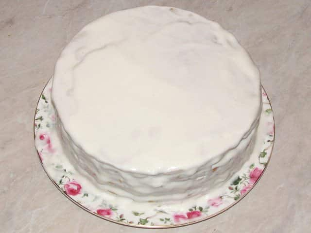 смазанный торт Рыжик