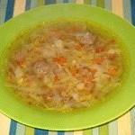 Суп с фрикадельками, первый рецепт