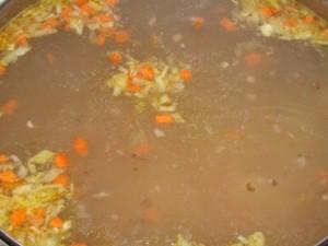 заправить суп обжаркой