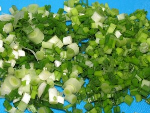 рубленный зелёный лук